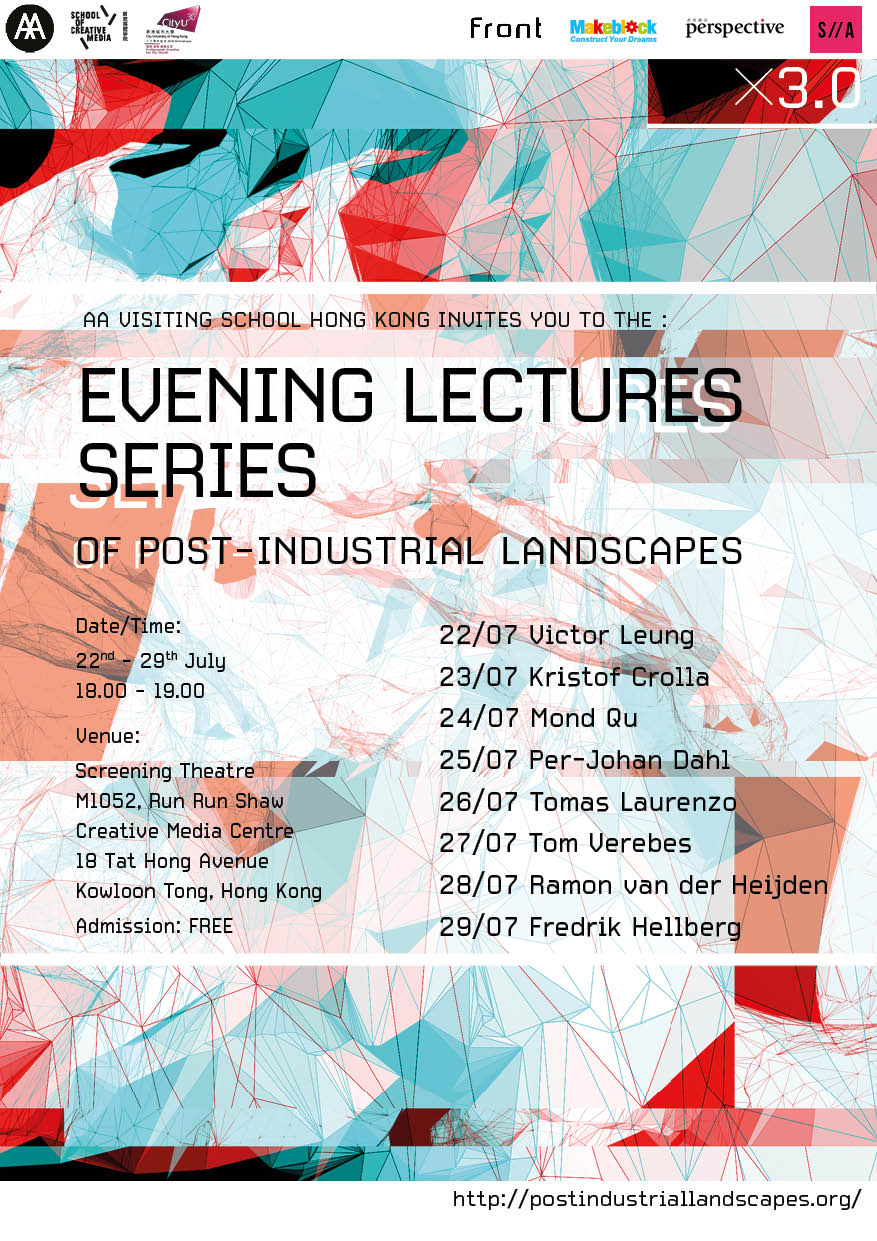 Tom Verebes lectures at AAVS Hong Kong @ City University of Hong Kong